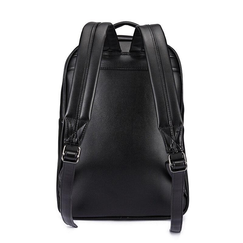 GOOG.YU New leather backpacks men 3d skull head laptop backpack women Embossed three-dimensional decoration luggage bag