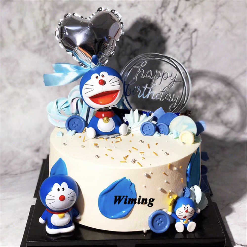Amazing Cake Topper Doraemon Cat Cartoon Baby Born Toy 1St Birthday Party Funny Birthday Cards Online Fluifree Goldxyz
