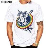 2015 Newest Galaxy Space Printed Creative T Shirt Unicorn Men S Tshirt Summer Novelty Feminina Psychedelic