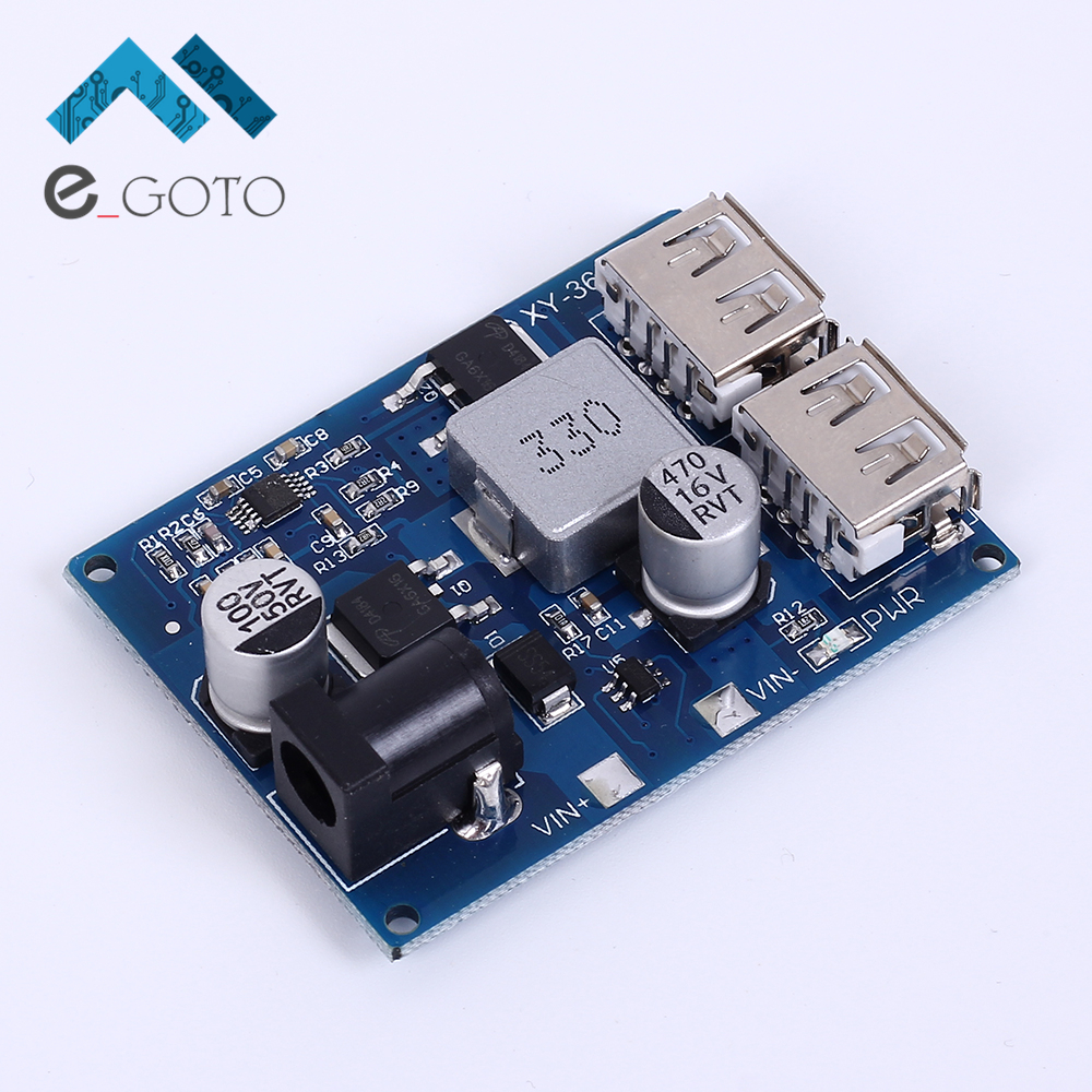LM2596S DC DC 24V 12V to 5V Buck Converter Step Down Adjustable Power Supply Module Double
