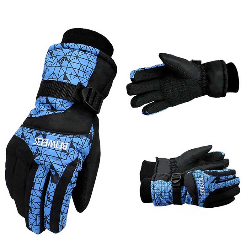 Skiing Gloves Windproof Cool Winter Waterproof Anti-skid Cycling Gloves Mountain Snowmobile Motorcycle Gloves 2018