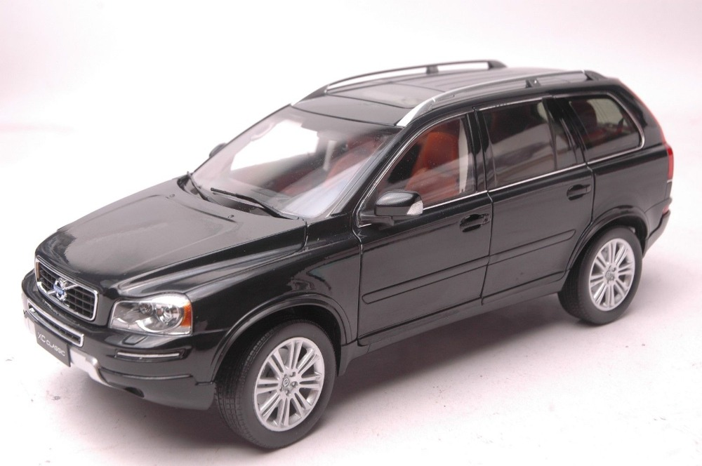 1:18 Diecast Model for Volvo XC Classic XC90 Black SUV Alloy Toy Car Collection S60 premiumx 1 43 yuan bao 1968 volvo 164 rich 164 alloy models prd247