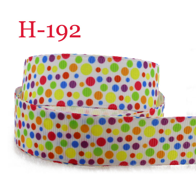 2-5 yards <font><b>7/8</b></font> inch 22mm <font><b>grosgrain</b></font> <font><b>ribbon</b></font> <font><b>Halloween</b></font> autumn orange green dot fast shipping H192 image