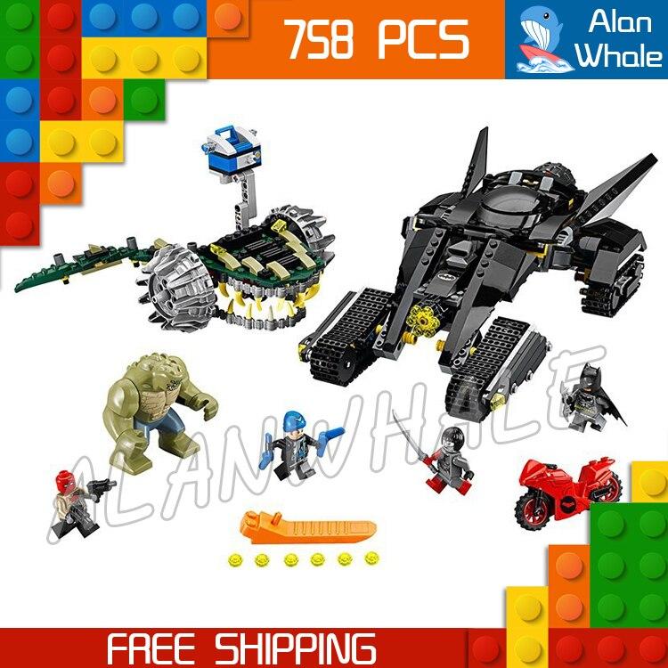 788pcs New Super Heroes Killer Croc Sewer Smash 07037 DIY Model Building Kit Blocks Gifts Toys Compatible With lego