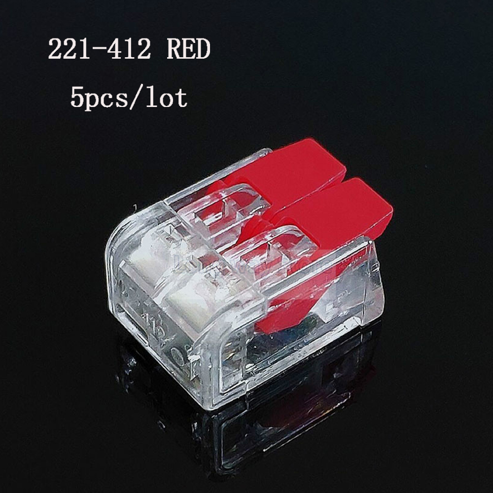 Red WAGO wire Connectors PCT-412 221-412 plug in electrical connector cable connection power fast connector cable TERMINAL BLOCK