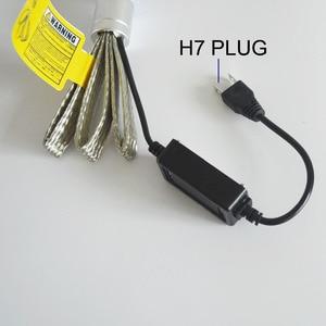 Image 5 - 2pcs H7 LED H1 H4 H11 רכב פנס הנורה R3 9600lm עם מיני עדשת H3 HB4 H8 HB3 9005 9006 Led ערפל אור 6000K לבן רכב אורות