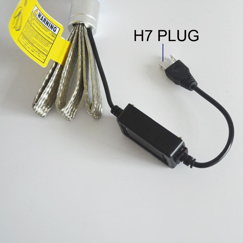2pcs R3 9600lm Car Headlight H7 LED H4 H1 H3 H11 9005 9006 6000K White Auto Front Bulb Automobile Headlamp Conversion Kit 4800lm
