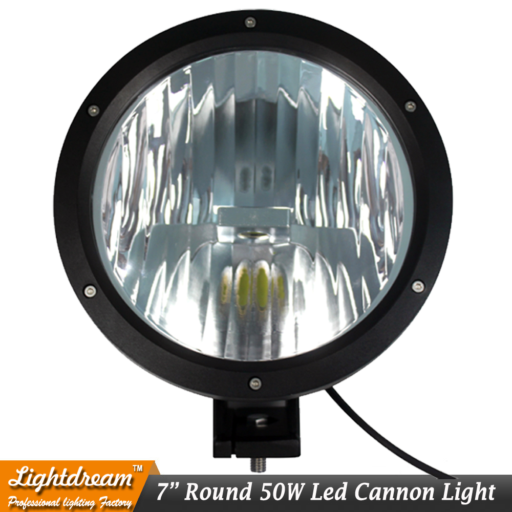 New 7 Offroad Lighting 9150970 Cannon LED Driving Light 6.7 CANNON BLACK 50W LED Spot LIGHT OFF ROAD with Clear cover x1pc 10 50 meters pack 1m per piece led aluminum profile slim 1m with milky diffuse or clear cover for led strips