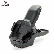 SnowHu dla Gopro akcesoria szczęki Flex Clamp Mount dla Gopro Hero 9 8 7 6 + dla yi 4k sjcam sj4000 sj7000 kamera sportowa GP153