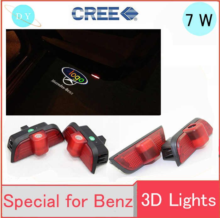 Car Door Led light For Mercedes-Benz C(W204) Wireless Courtesy Projector Logo Shadow automobiles External cree welcome door lamp door mirror turn signal light for mercedes benz w163 ml270 ml230 ml320 ml400 ml350 ml500 ml430 ml55