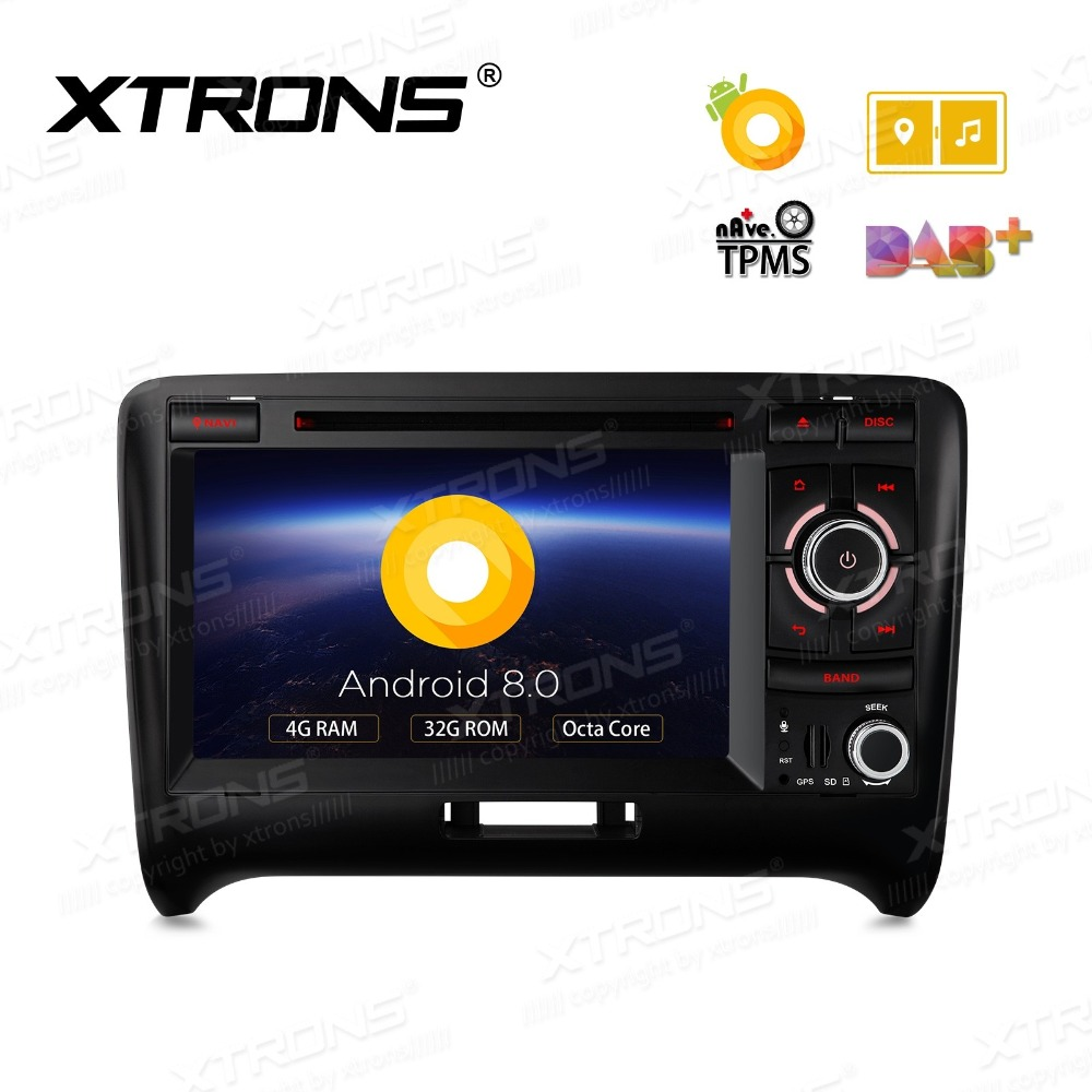 XTRONS 2 Din 7 Android 8.0 Octa Core Radio GPS Navigation Car DVD Player for Audi TT MK2 8J 2006 2007 2008 2009 2010 2011 2012 image