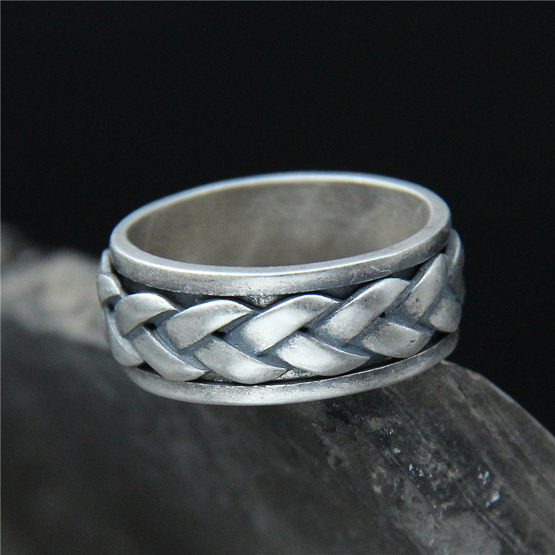 2018 Limited Real Anel Feminino Is Tasted Thai Restoring Ancient Ways Do Old S925 Pure Rotating Twist Braid Ring Ring, Men And 2018 direct selling anel feminino thai restoring ancient ways leading mosaic unique ring wholesale corundum man with ambition