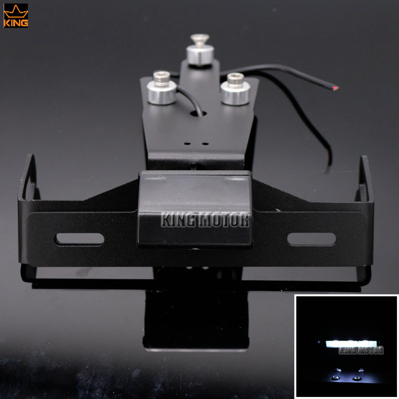 For KAWASAKI ER-6N ER-6F NINJA 650R 2012-2015 Motorcycle Tail Tidy Fender Eliminator Registration License Plate Holder LED Light motorcycle tail tidy fender eliminator registration license plate holder led light for kawasaki ninja 1000 ninja1000 2011 2015