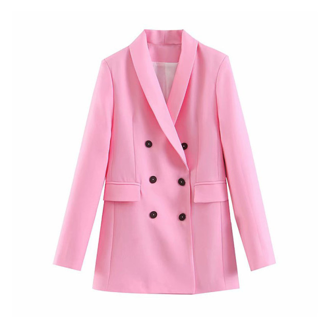 Women Stylish Pink Blazer...