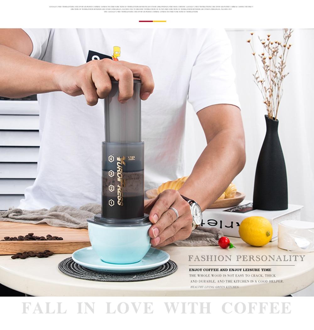 YRP YuroPress Portable Coffee Maker Espresso French Press barista tools Coffee Pot Air Press Drip Coffee Machine Filters Paper
