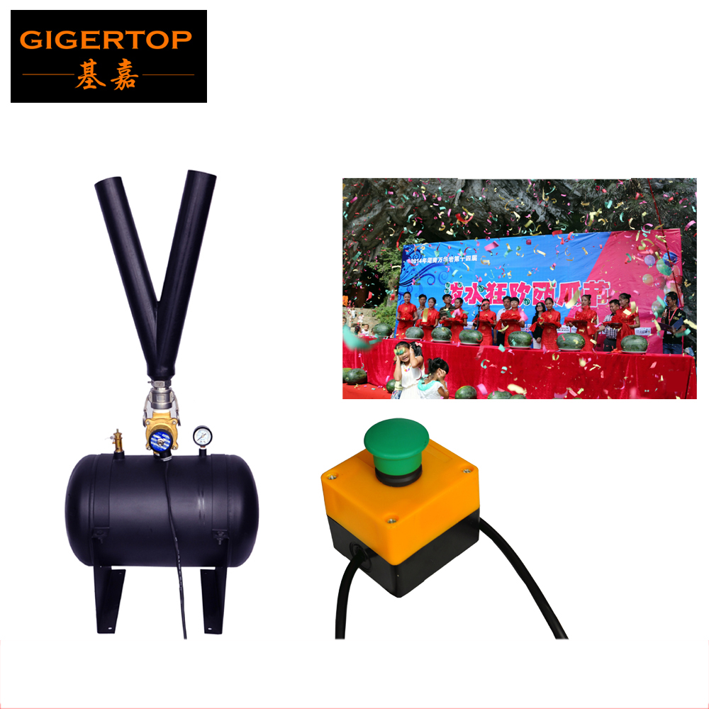 TIPTOP TP-T185 Stage High Distance Air Jet Confetti Paper Machine Electrical Solenoid Valve Manual Control High Height Y Pipe