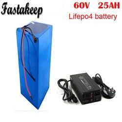Akumulator litowy Lifepo4 60v 25ah do silników samochodowych ev układ słoneczny z ładowarką 5A w Akumulator do rowerów elektrycznych od Sport i rozrywka na
