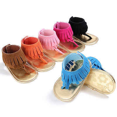 Baby Sandals Fashion Baby Girls Tassels Summer Shoes Sandals Soft Sole Prewalkers Cool Shoes