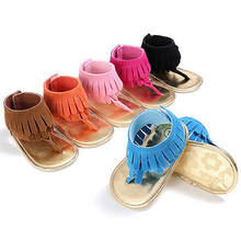 Baby Sandals Fashion Baby Girls Tassels Summer Shoes Sandals Soft Sole Prewalkers Cool Shoes(China)