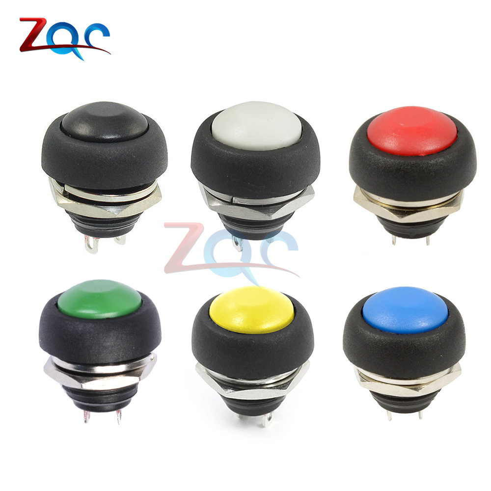 цена на 12mm PBS-33B Waterproof Momentary ON OFF Push Button Swithch Mini Round Switch VE058