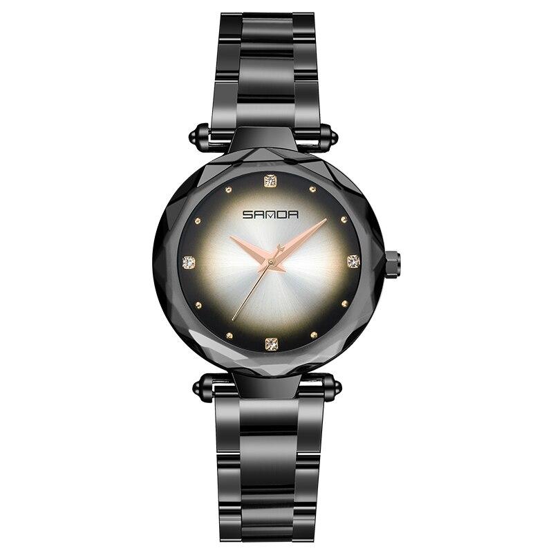 Sanda1004 Quartz femmes montres de luxe top marque belle mode montres décontracté confortable horloge amoureux fille cadeau