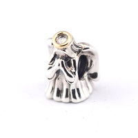 Fits Pandora Bracelets Divine Angel Silver Beads With 100% 925 Sterling Silver Charms DIY Jewelry Wholesale