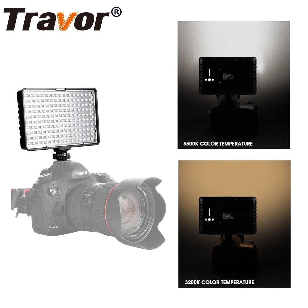 Travor Hot 160pcs Led video kamera Světlo se 2 filtry 3200K 5500K pro většinu modelů Canon Nikon Sony DSLR a videokamer  t