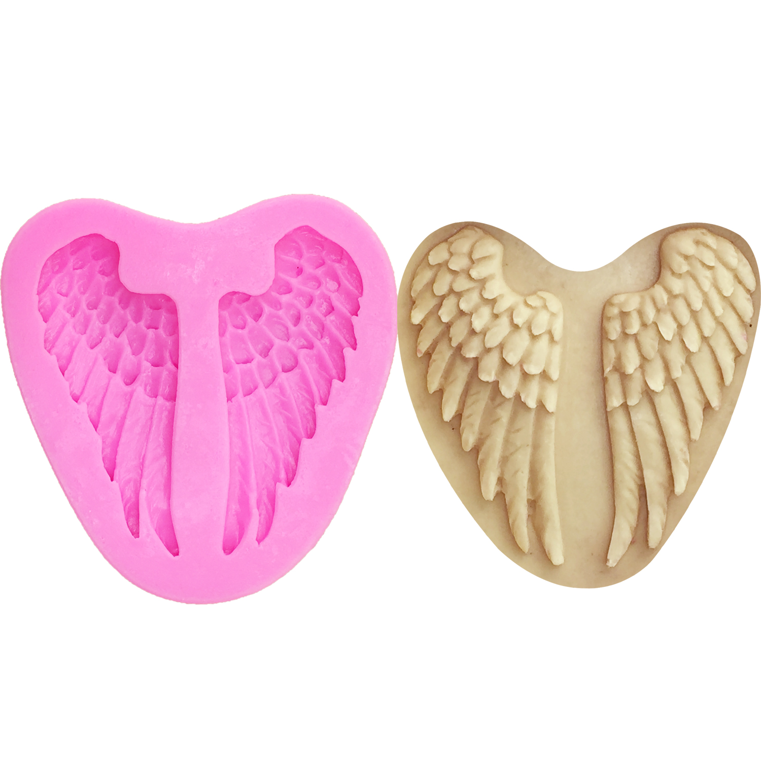 Silicone 3D Angel Baby Wings Fondant Mould Cake Decor Chocolate Baking Mold HY