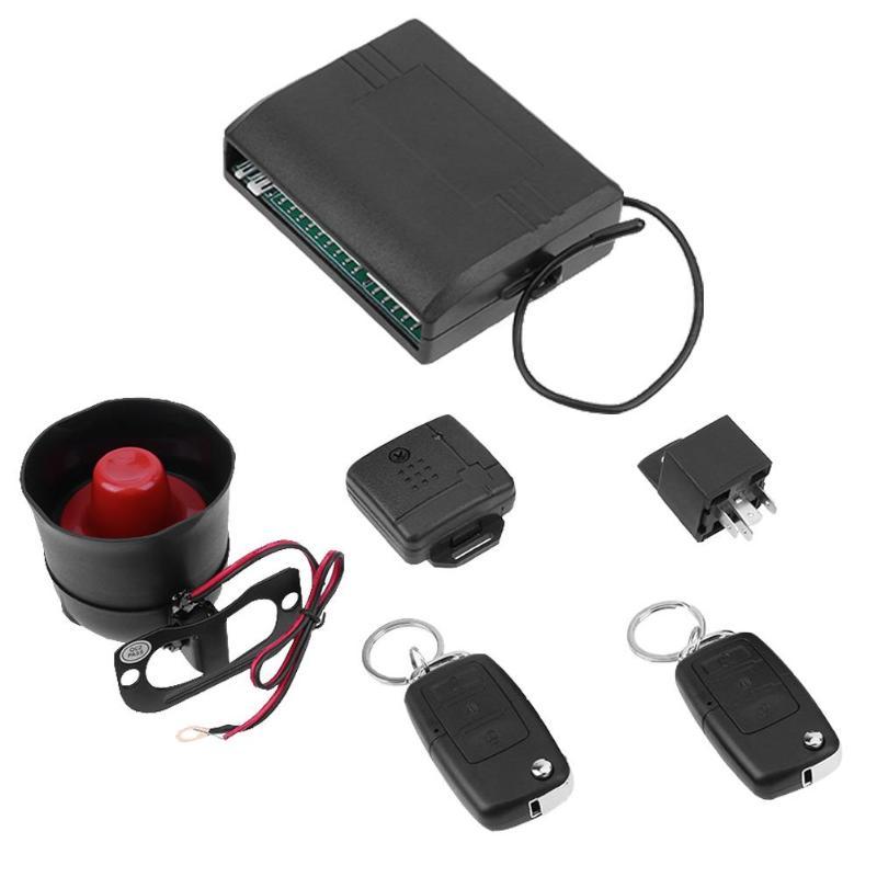 Sistema de alarme de carro universal com fechadura da porta central de controle remoto chave da aleta