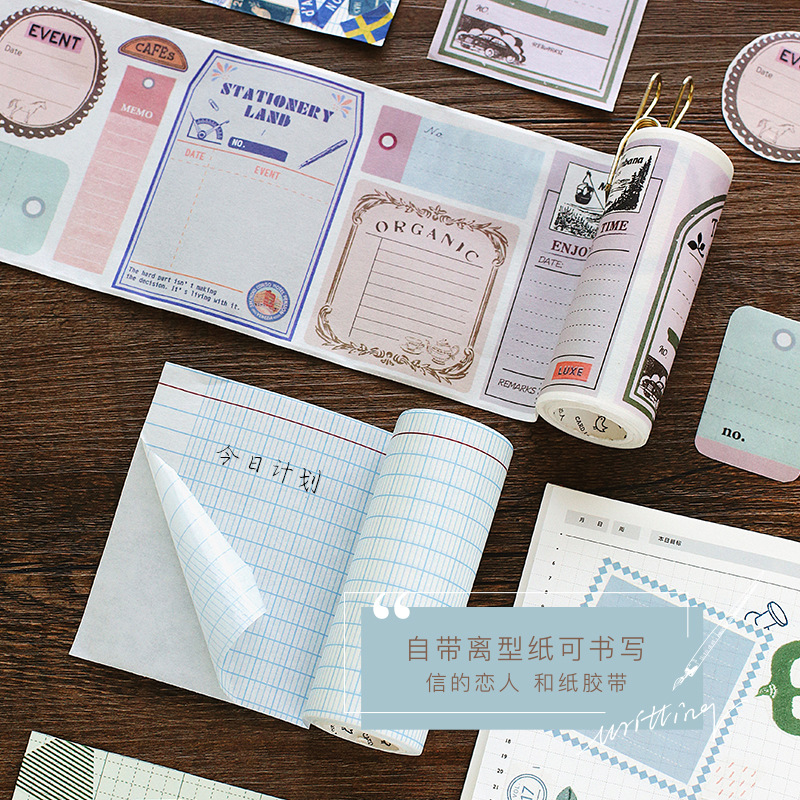 Square Grid Sticky Note Masking Adhesive Scrapbooking Paper Tape Label Sticker