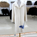Noble Long Women's Coat 100% Real Mink Material Gorgeous Formal High Quality Personal Tailor Female One Grade Coat RA13020-4