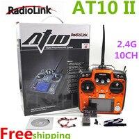 Радиолинк AT10 II 2,4 ГГц 10CH rc передатчик с R10D II приемник PRM 01 Напряжение возвращение модуль для вертолет Quadcopter