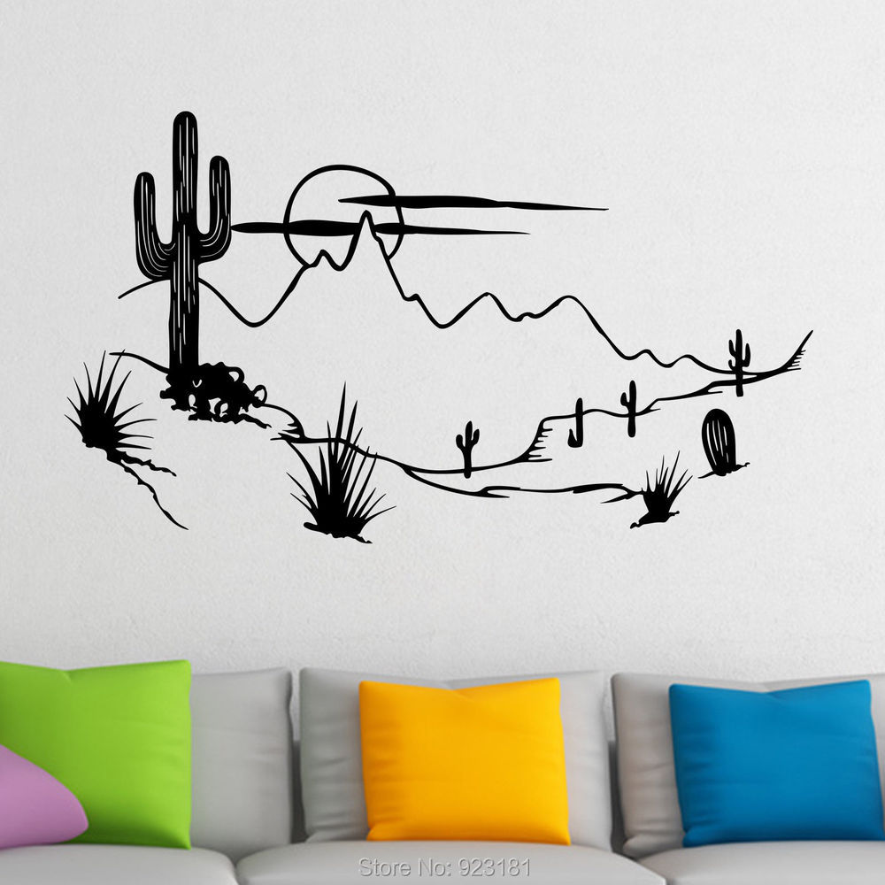 Affordable hot wild west with cactus wall art stickers decal home diy  decoration wall mural bedroom decor with wild west home decor Wild West Home Decor  Western Store Fronts With Wild West Home  . Wild West Home Decor. Home Design Ideas