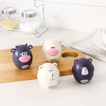 Cute animal model kitchen timer mechanical alarm clock without battery reminders 7.8*7.2CM free shipping