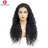 13*4 pelucas de pelo humano frontales de encaje de onda de agua sin pegamento con pelo de bebé pelucas de cabello Remy Pre desplumado brasileño color Natural 10-24 pulgadas