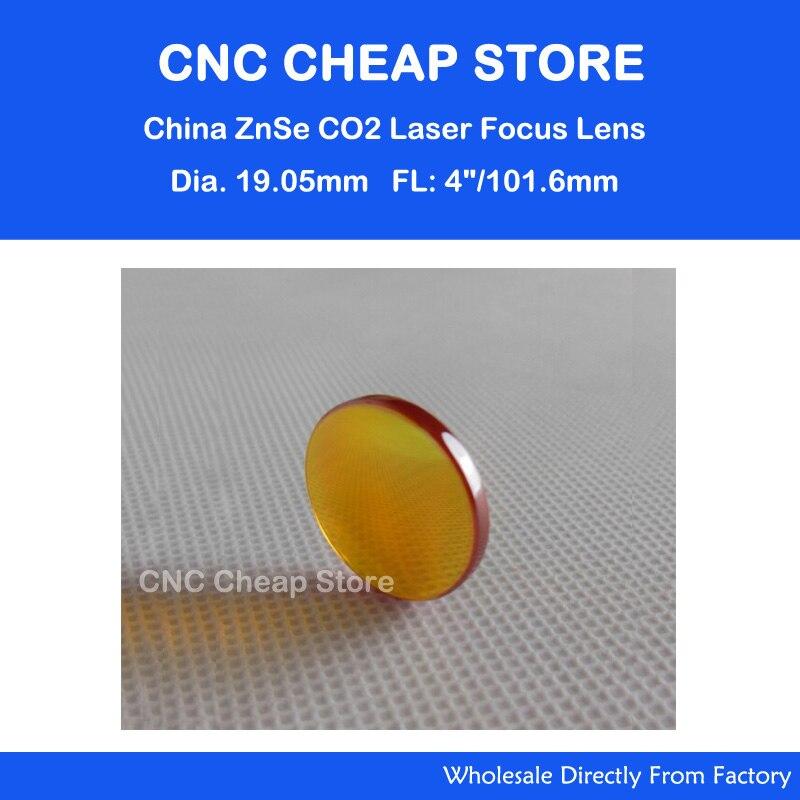 New ZnSe Focal Lens for CO2 Laser Cutter Engraver Diameter:19mm Focal Length: 101.6mm/ 4