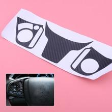 3Pcs Car Steering Wheel Stickers Auto Professional Emblem Vinyl Badge Decal For Honda Civic 2016-2017 Carbon Fiber Black Sticker