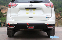 De alta Calidad! cromo Tapa de La Cubierta Trasera Antiniebla Luz Recortar 3 Unids Para Nissan X-trail X Trail T32 Rogue 2014 2015 2016