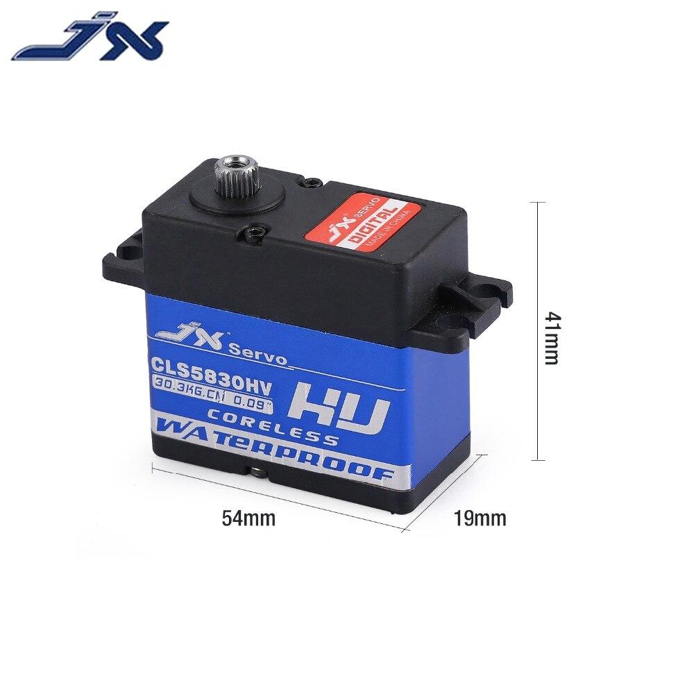 JX CLS5830HV 30KG entièrement étanche 8.4V sans noyau 0.09 sec servo pour 1/10 RedCat HPI Baja 5B SS 1/8 RC voiture chenille buggy - 6