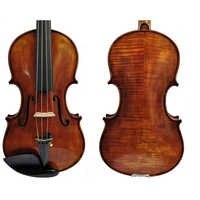 Envío Gratis, copia de Guiseppe Guarneri del Gesu II 1743, barniz de aceite para violín, 100%, funda hecha a mano, Arco de fibra de carbono FP900