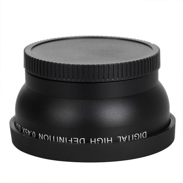 58mm 0.45X Wide Angle Lens for Canon EOS 1000D 1100D 500D Rebel T1i T2i T3i L3EF