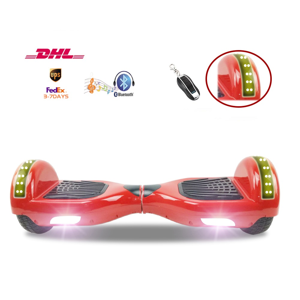 UL2272 Remote Control Hoverboard 6.5 Inch Two Wheels Smart Electric Scooters Self Balancing LED Skateboard 3-8 days of delivery hot sale 4 5 inch electric self balancing scooter hoverboard smart wheels smart scooters balancing board for kid n5 1