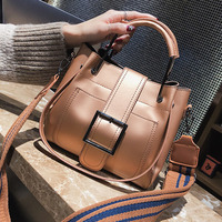 ETAILL Winter Luxury Brand Designer Women Bucket Bag Ladies Top Handle Shoulder Handbags Big Buckle Wide