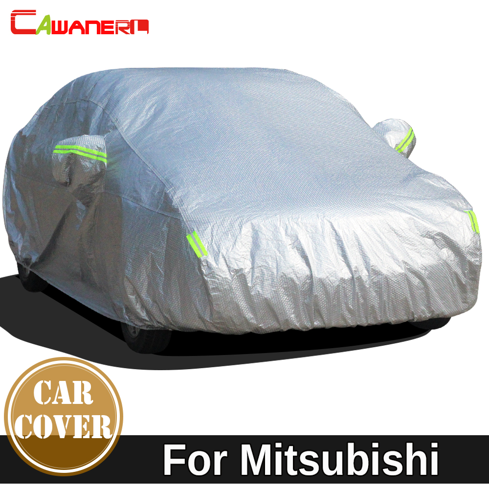 Cawanerl Thicken Cotton Car Cover Waterproof Sun Snow Rain Hail Protection Cover Dust Proof For Mitsubishi clipse Sigma PajeroCawanerl Thicken Cotton Car Cover Waterproof Sun Snow Rain Hail Protection Cover Dust Proof For Mitsubishi clipse Sigma Pajero