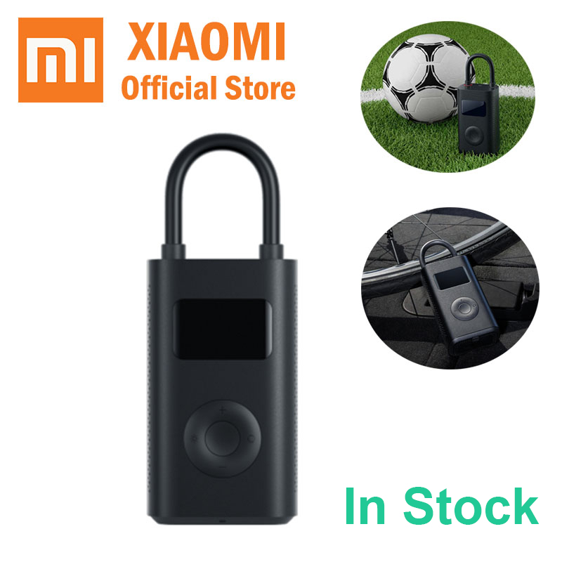 Xiaomi Mijia Inflatable tire Pressure Digital Monitor Portable Compressor Multi nozzle for football bicycle Car tire