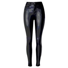 Vintage PU Leather Pants For Women European Star Women Leggings Capris Designer Female Pants Leather Capris Cheap Price S2381