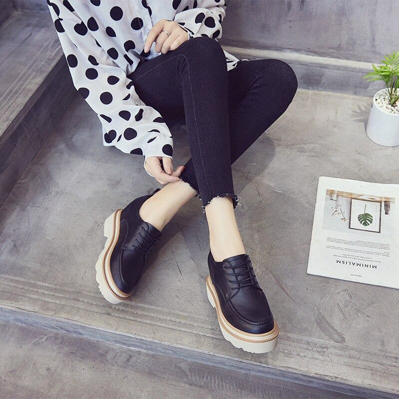 Femme En Automne 2018 Noir Qualité Loisirs Swyivy Pour Wedge Sneakres forme Lady Décontractées Cuir Baskets Plate blanc Chaussures Véritable Blanc tE8qwR