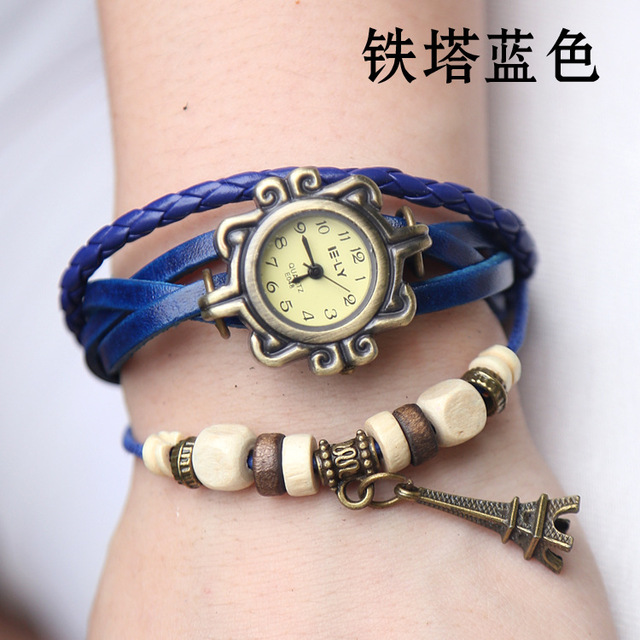 Pendant Genuine Cow Leather Watch