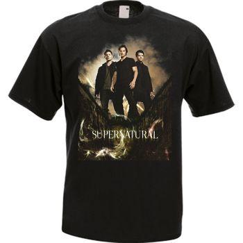 The Supernatural TV Series Black Men's T-Shirt Tee Cool Casual pride t shirt men Unisex Fashion tshirt free shipping funny tops
