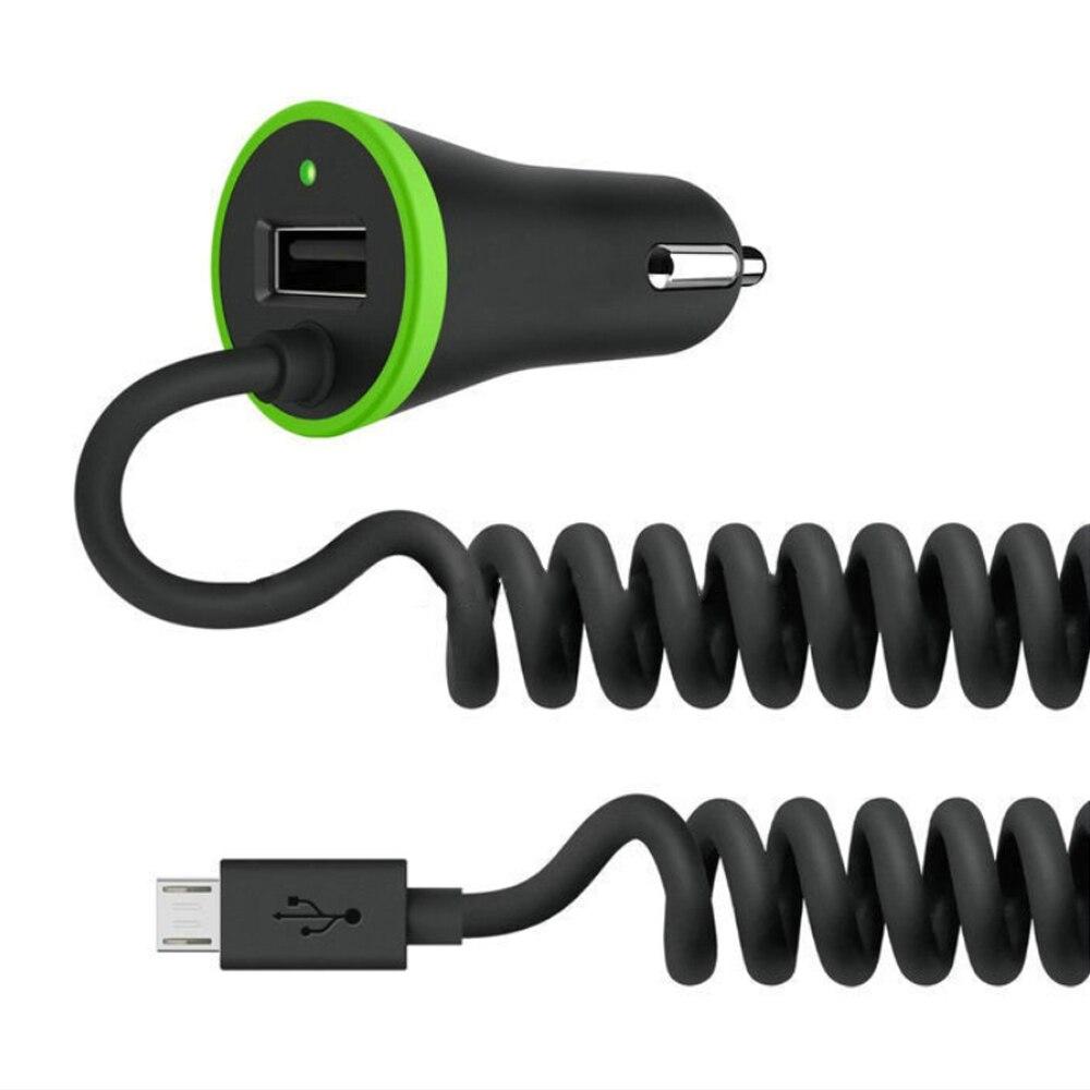 USB Автомобильное Зарядное устройство всего 3.4A с весны Форма Micro USB кабель освещения для IPhone LG Huawei MIUI Tablet PC bpg